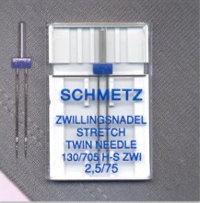 Stretch Twin Needles - Size 2.5/75 (Schmetz)