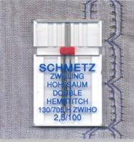 Hemstitch/Wing Twin Needle - Size 2.5/100 (Schmetz)