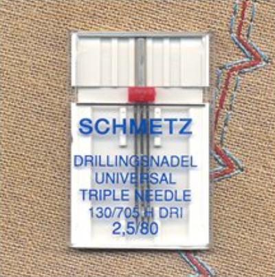 Triple Universal Needle - Size 2.5/80 (Schmetz)