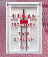 Stretch Twin Needle - Size 4.0/75 (Organ)