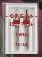 Twin Universal Needles - Size 1.6/70 (Organ)