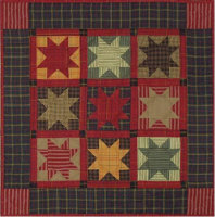 Homespun Stars - Miniature Quilt Kit