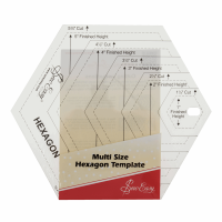 Hexagon Template - Multi Size (Sew Easy)