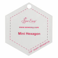 "Mini Hexagon Template - 2.5"" x 2.87"" (Sew Easy)"