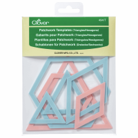 Patchwork Templates - Triangles / Hexagons (Clover)