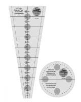 """18° Dresden Plate Ruler - 9"""" (Creative Grids)"""