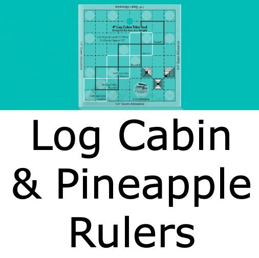 Log Cabin & Pineapple Rulers