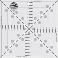 "Square It Up & Fussy Cut Ruler - 9 ½"" x 9 ½"" (Creative Grids)"