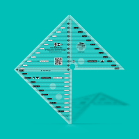 """Flying Geese and 45° & 90° Triangle Ruler - 6"""" (Creative Grids)"""