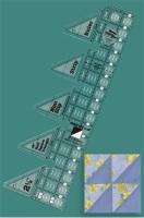 45° Triangle Single Strip Ruler (Creative Grids)