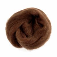 Natural Wool Roving - Fudge - 10g
