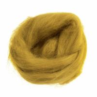Natural Wool Roving - Mustard - 10g