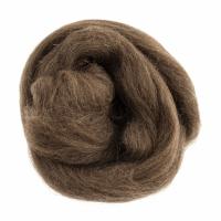 Natural Wool Roving - Light Brown - 10g