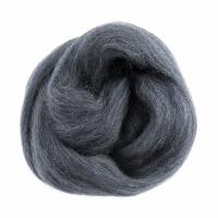 Natural Wool Roving - Melange Blue - 10g