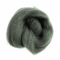 Natural Wool Roving - Melange Green - 10g