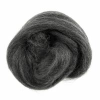 Natural Wool Roving - Melange Grey - 10g