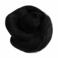 Natural Wool Roving - Black - 10g