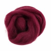 Natural Wool Roving - Wine - 10g
