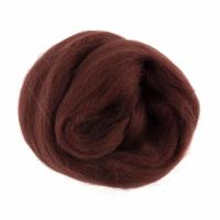 Natural Wool Roving - Chocolate - 10g