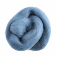 Natural Wool Roving - Light Blue - 10g