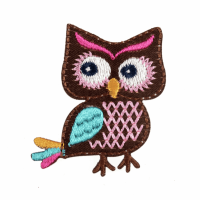 Motif - Colourful Owl