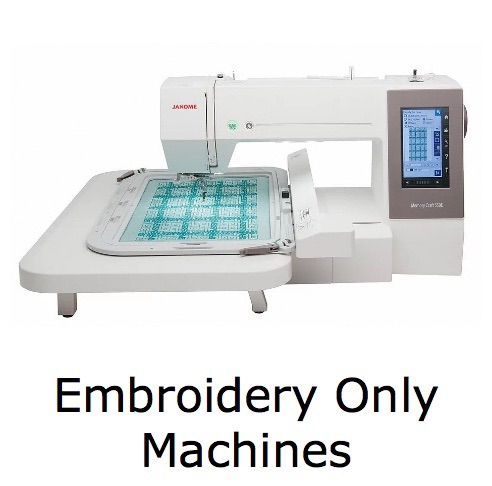 <!-- 10 -->Embroidery Only Machines