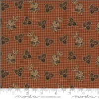 Moda - Yesterday - Rose and Tri Leaf - 38100 13 (Rust)