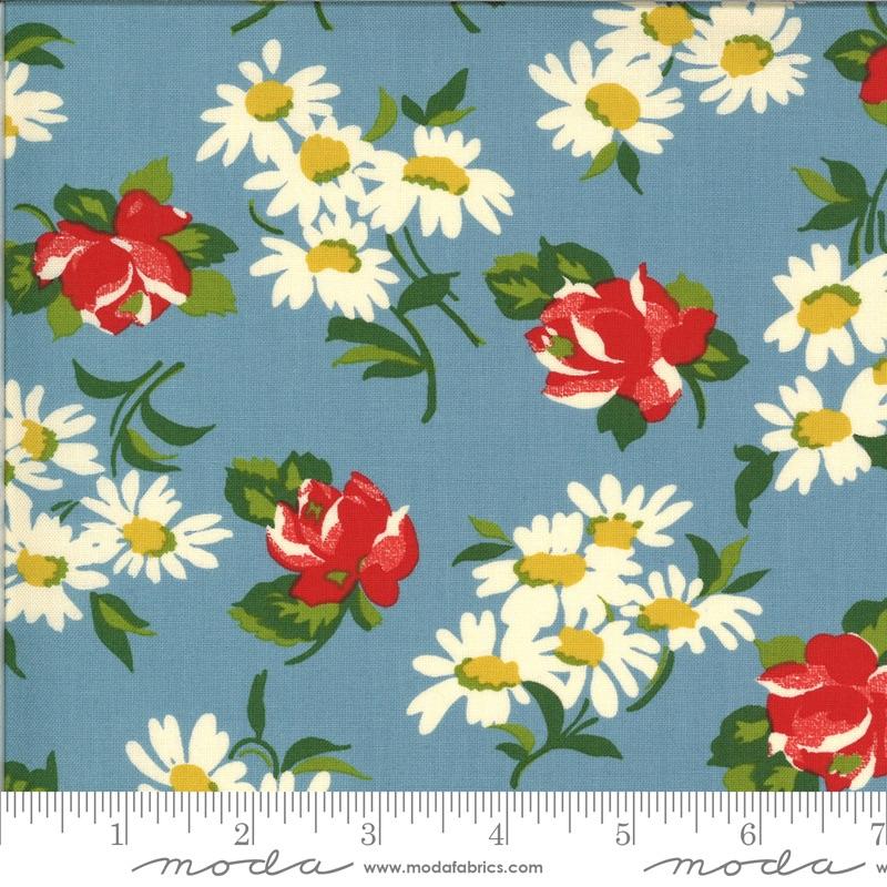 Moda - It's Elementary - Garden Blooms - 21783  16 (Blue)