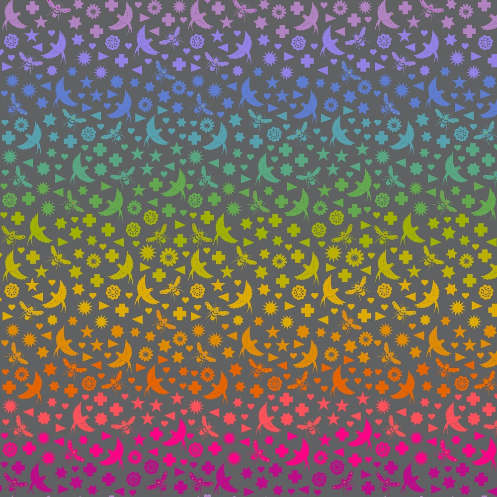 Makower - Alison Glass - Art Theory - Bird and Bee - 9699C (Charcoal)