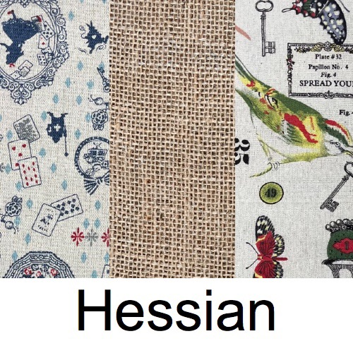 Hessian-type Fabrics