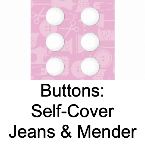 Buttons -Self-Cover, Jeans & Mender
