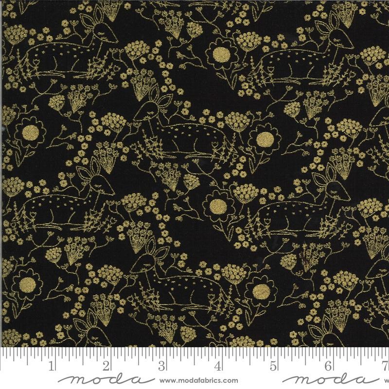 Moda - Dwell in Possibility - Meadow Deer - 48313 34M (Black Metallic)