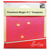 "Pinwheel Magic Template -  4 ½"" x 4 ½"" (Sew Easy)"