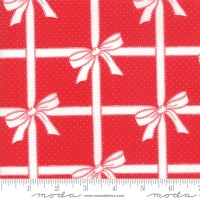 End of Bolt - Moda - Vintage Holiday - Wrapped - 55165 11 (Red)