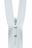 Concealed Zip - 56cm - White