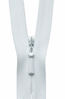 Concealed Zip - 23cm - White