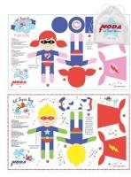 Moda - Lil Super Heroes Dolls Fabric Panels