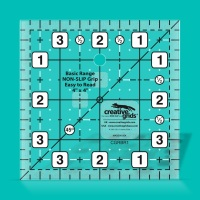 "Patchwork Ruler - 4"" x 4"" (Creative Grids Basics)"