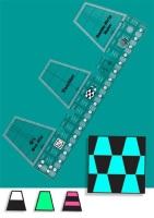 Tumbler Double Strip Ruler (Creative Grids)