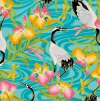 Kona Bay - Lotus in Springtime - LOTU-11 (Teal)