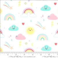Moda - Hello Sunshine - Rainbows - 35350 11 (White)