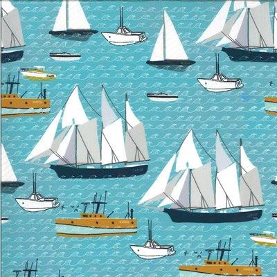 Moda - Lakeside Story Digital - Boats - 13352 17 (Freshwater)