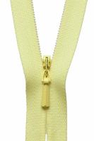 Concealed Zip - 20cm / 8in - Lemon