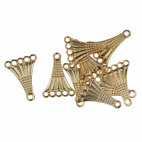 5 Strand Connector - Fancy - Gold Plated (Trimits)