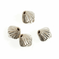Bicone Twist Beads - Silver Plated (Trimits)