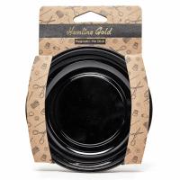 Magnetic Pin Dish - Black - 10cm (Hemline Gold)
