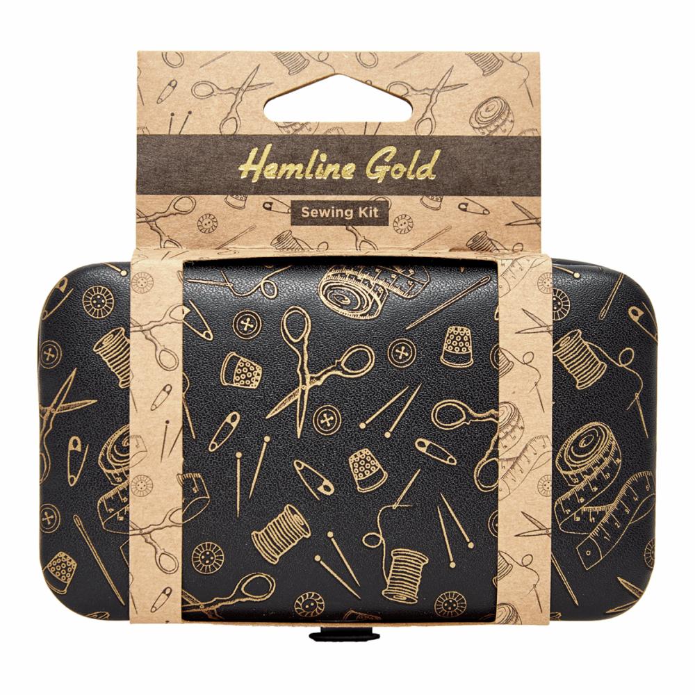 Sewing Kit - Gold Notions Print (Hemline Gold)
