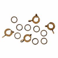 Bolt & Spring Rings - Antique (Trimits)
