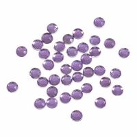 Acrylic Stones - Glue-On - Round - 4mm - Lilac (Trimits)