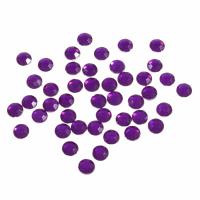 Acrylic Stones - Glue-On - Round - 5mm - Purple (Trimits)